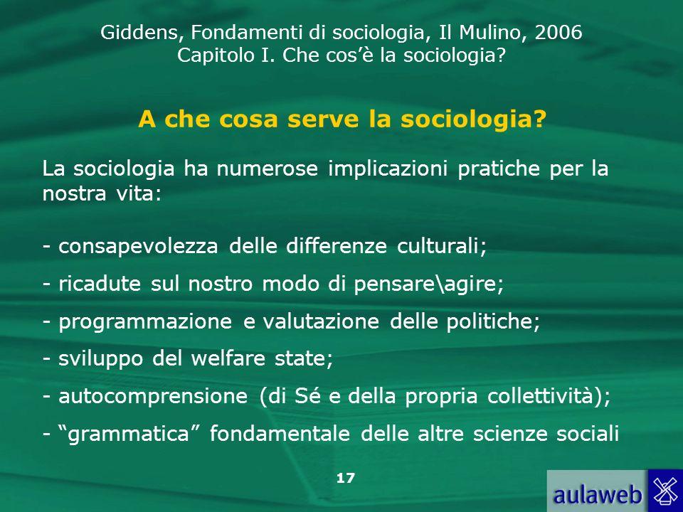 A che cosa serve la sociologia