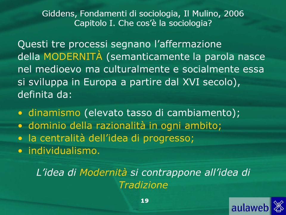L'idea di Modernità si contrappone all'idea di