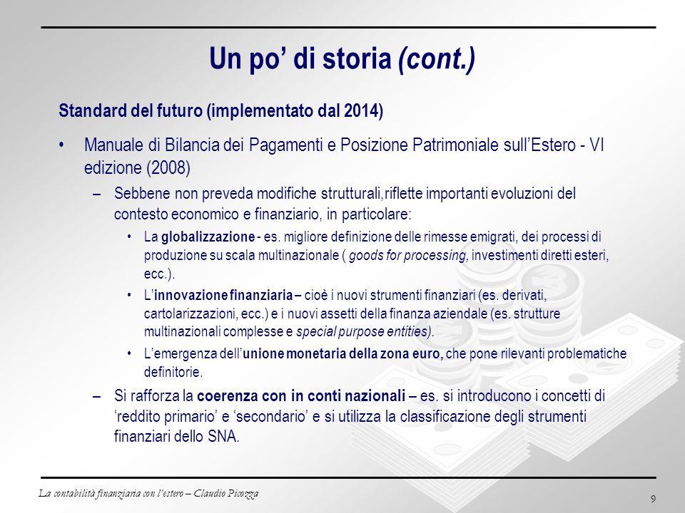 Un po' di storia (cont.) Standard del futuro (implementato dal 2014)