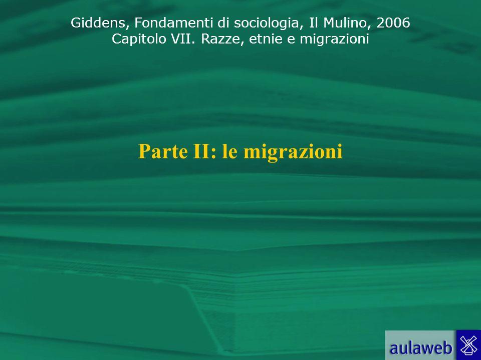 Parte II: le migrazioni