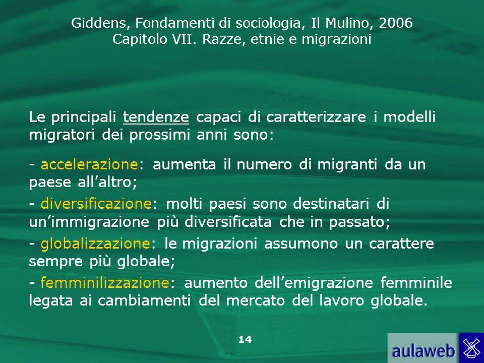 Le principali tendenze capaci di caratterizzare i modelli migratori dei prossimi anni sono: