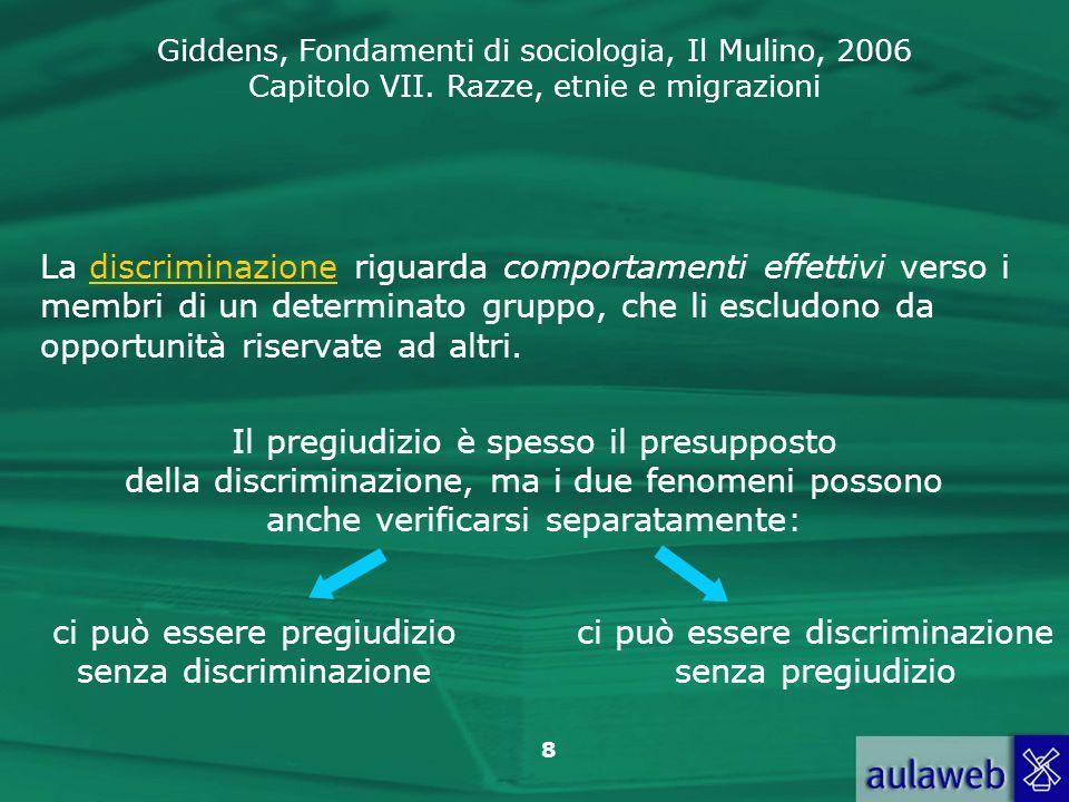 ci può essere pregiudizio senza discriminazione