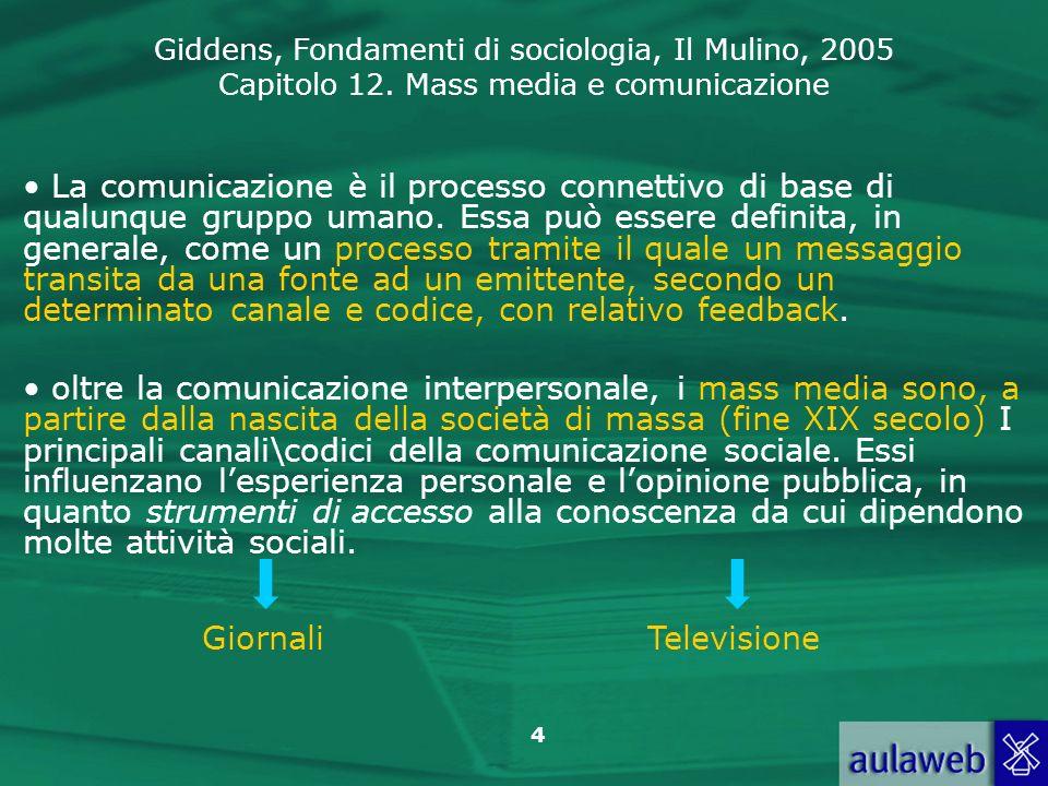 La comunicazione è il processo connettivo di base di qualunque gruppo umano. Essa può essere definita, in generale, come un processo tramite il quale un messaggio transita da una fonte ad un emittente, secondo un determinato canale e codice, con relativo feedback.