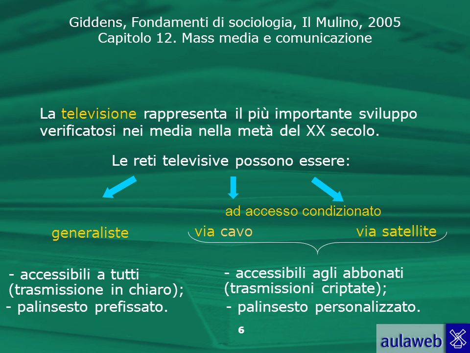 Le reti televisive possono essere: