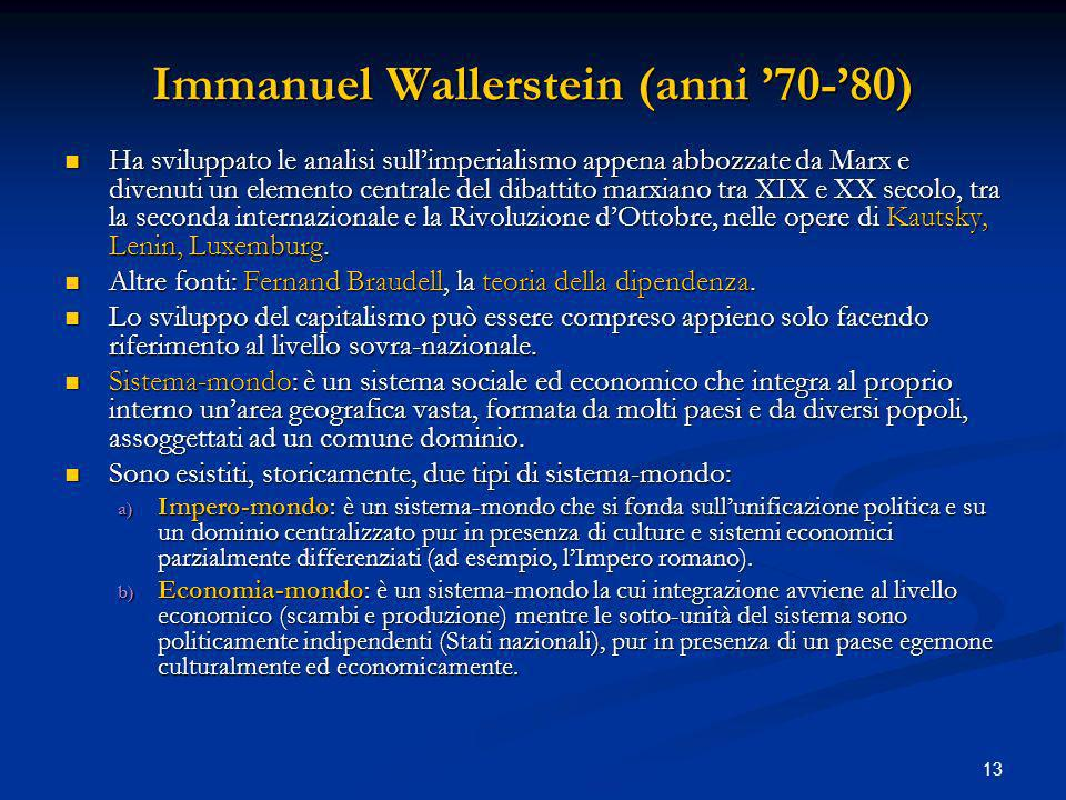 Immanuel Wallerstein (anni '70-'80)