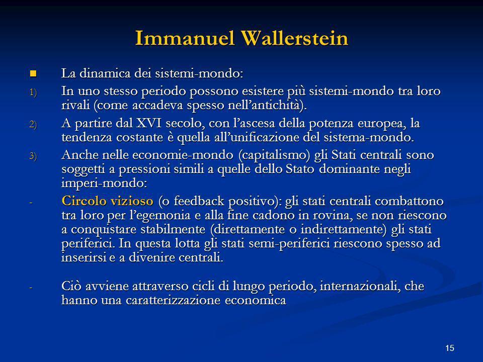 Immanuel Wallerstein La dinamica dei sistemi-mondo: