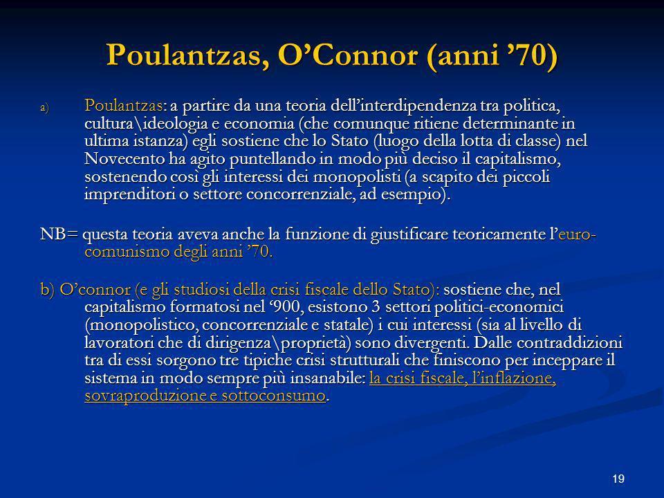Poulantzas, O'Connor (anni '70)