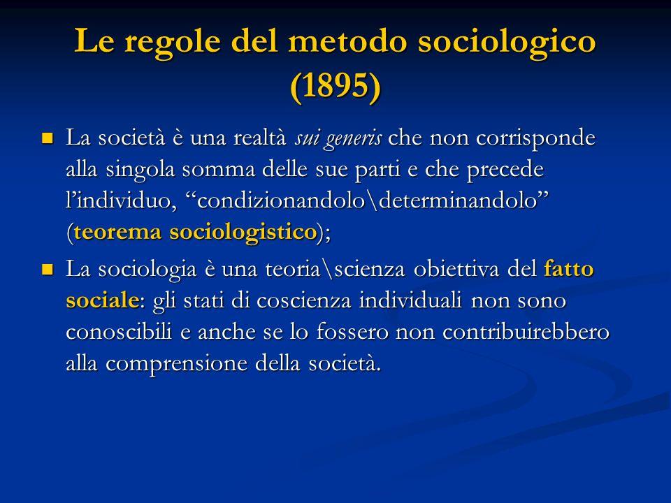 Le regole del metodo sociologico (1895)