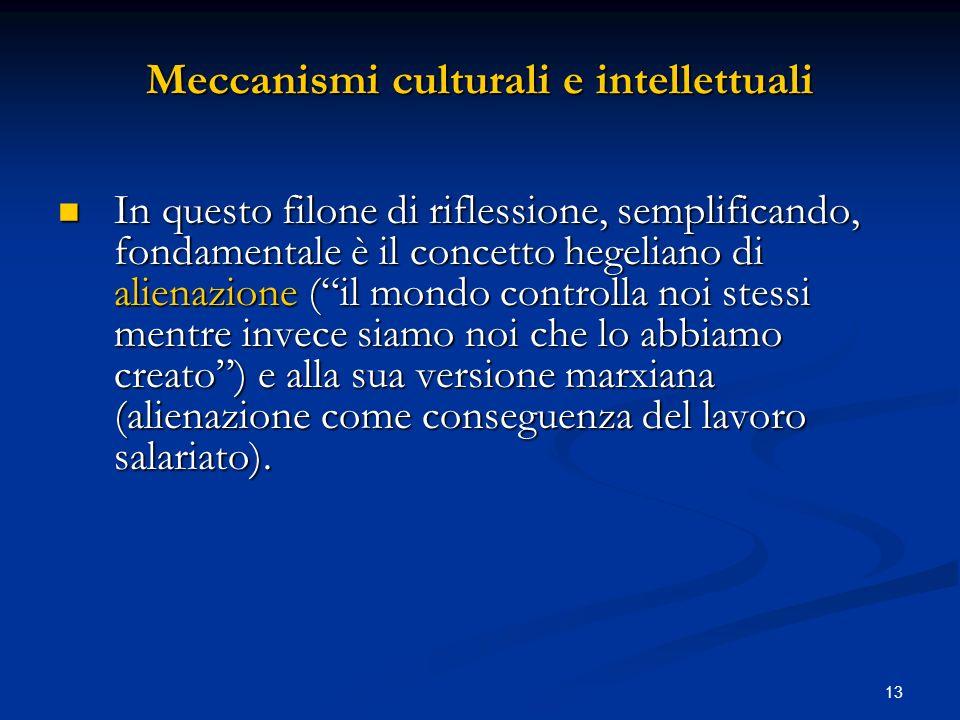 Meccanismi culturali e intellettuali