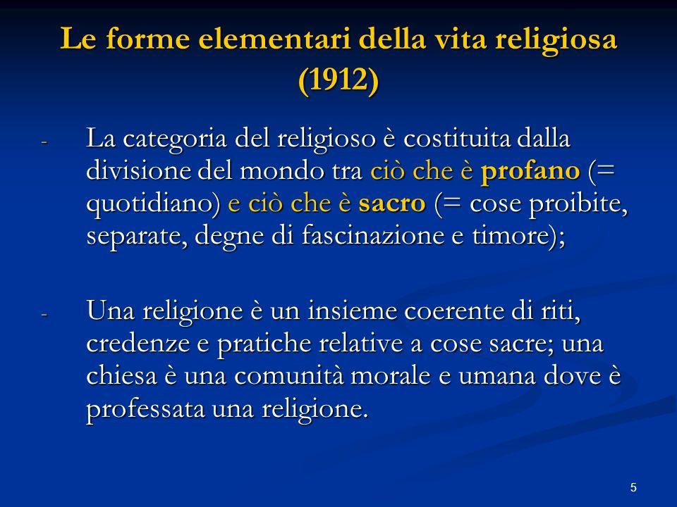 Le forme elementari della vita religiosa (1912)