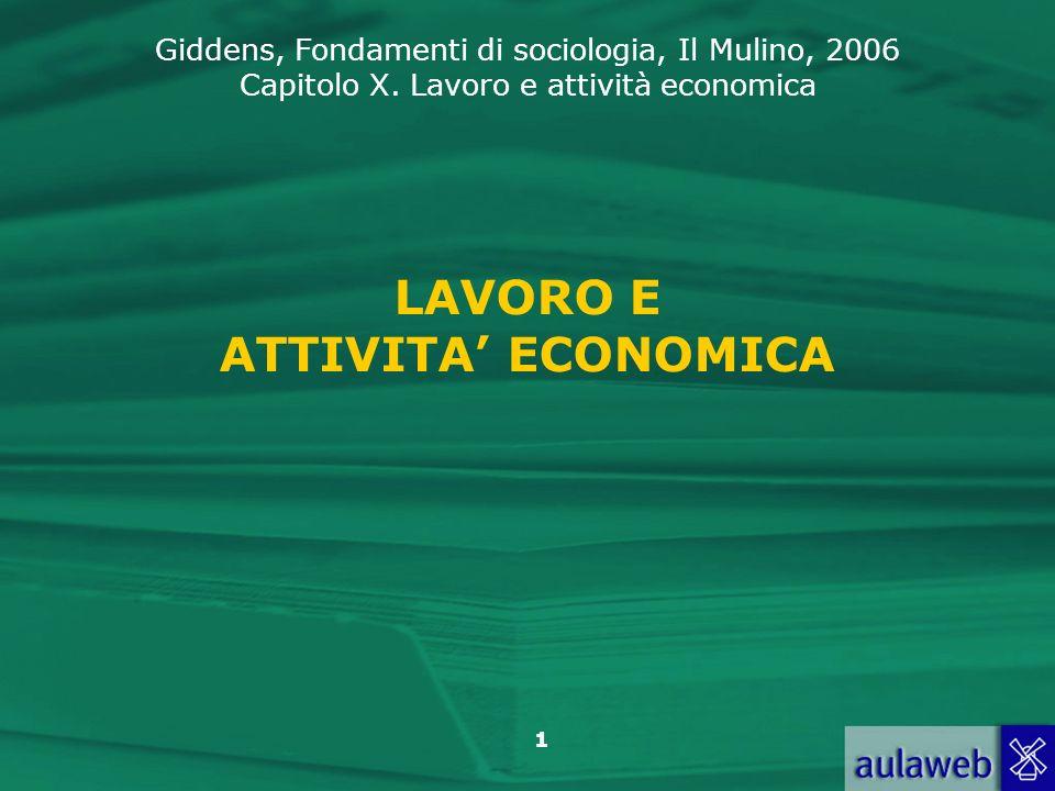 LAVORO E ATTIVITA' ECONOMICA