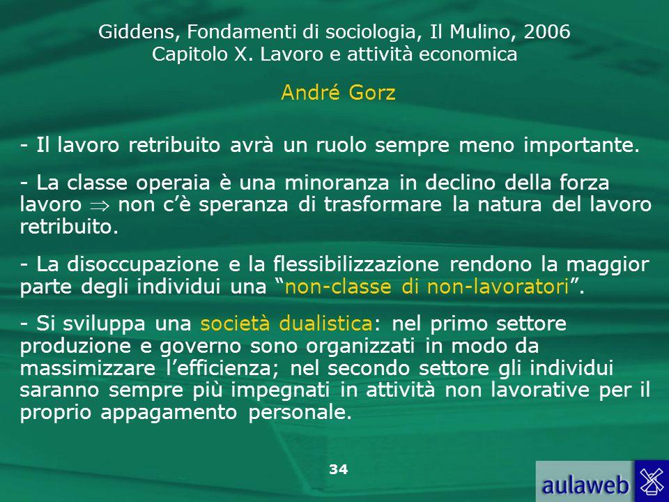 André Gorz - Il lavoro retribuito avrà un ruolo sempre meno importante.