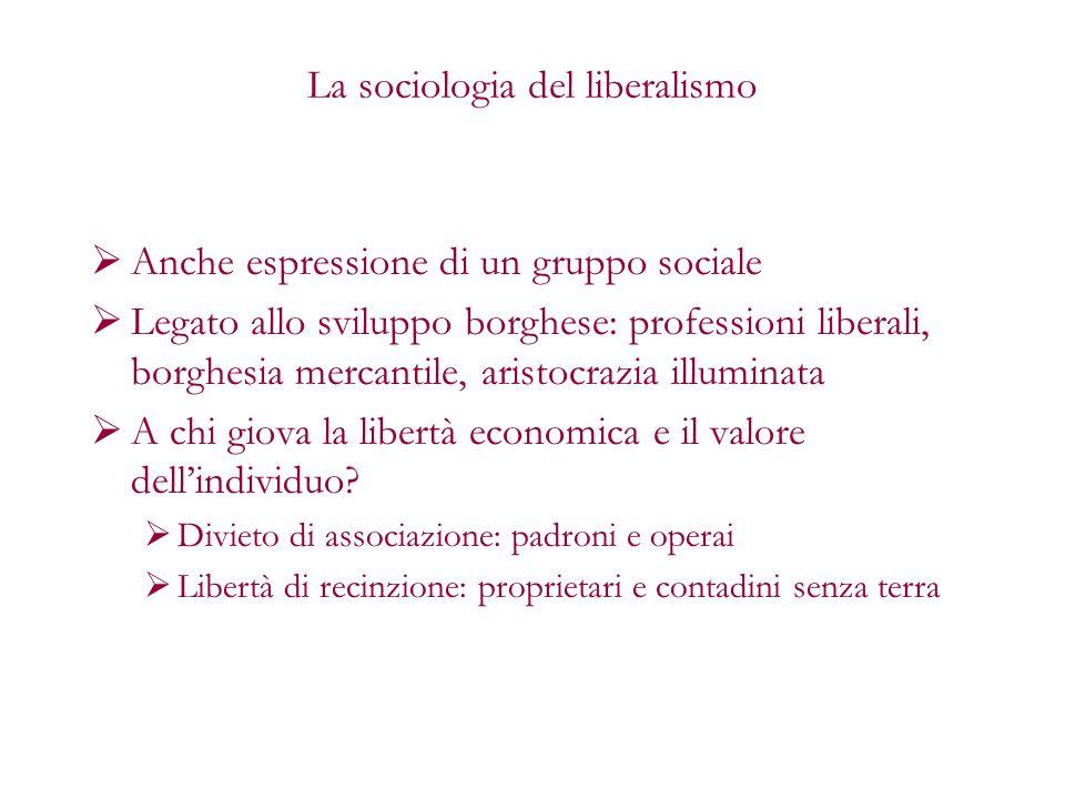 La sociologia del liberalismo