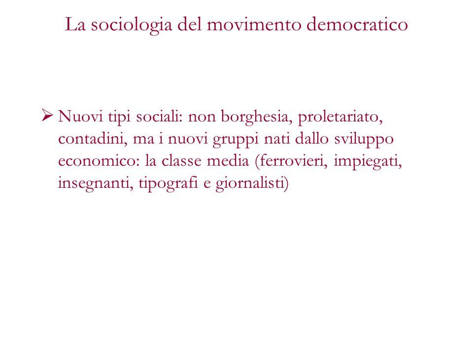 La sociologia del movimento democratico