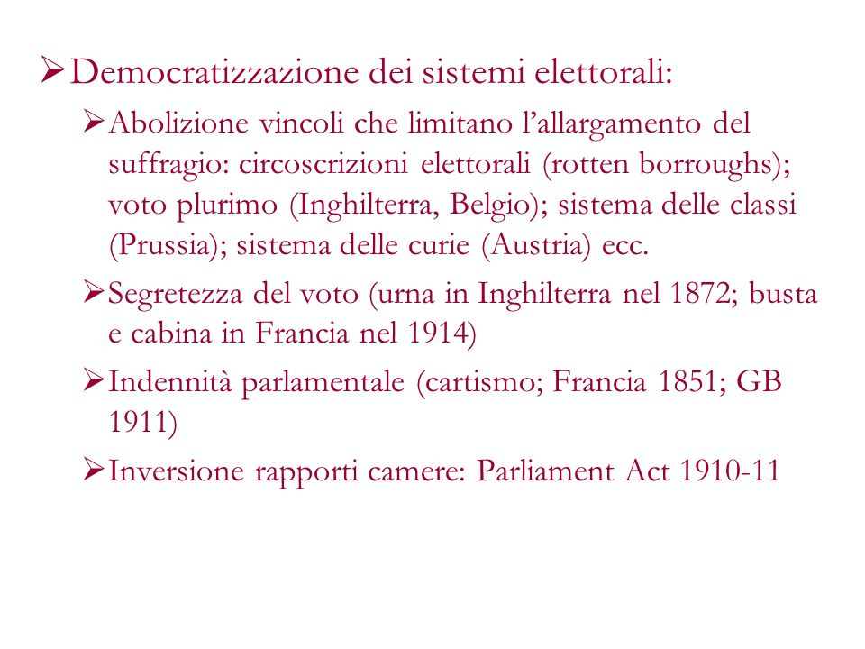 Democratizzazione dei sistemi elettorali: