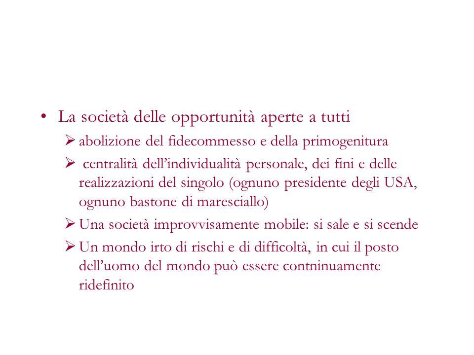 La società delle opportunità aperte a tutti