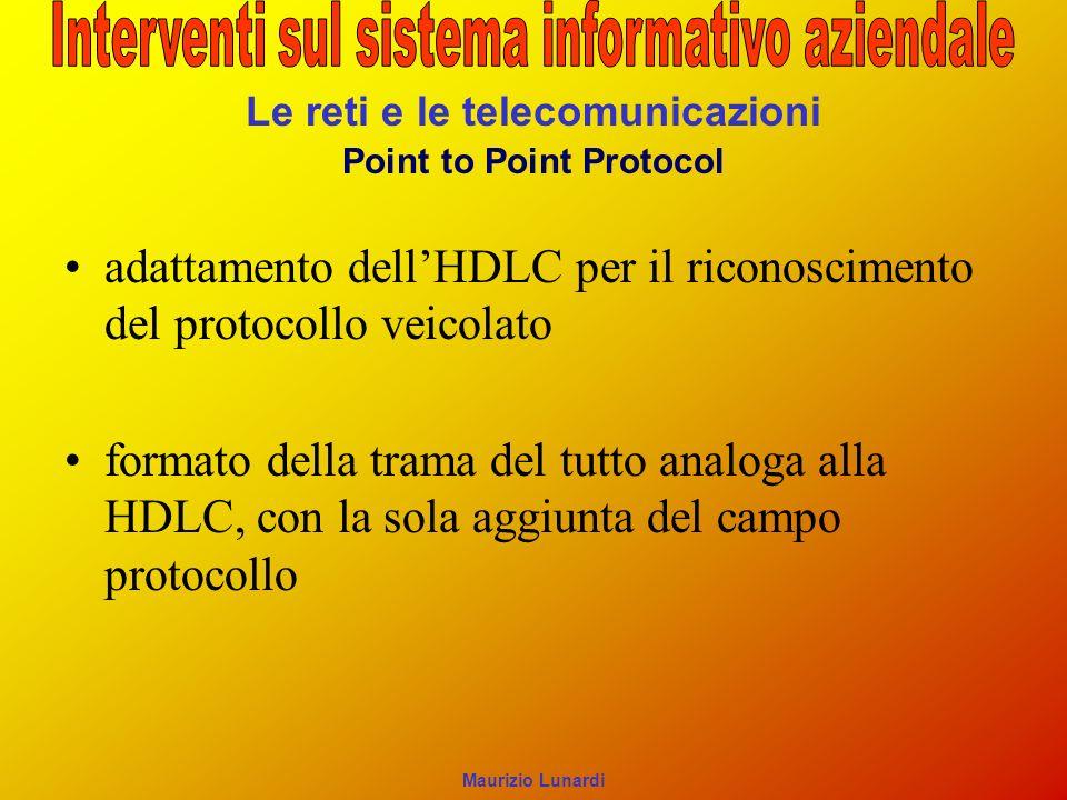 Le reti e le telecomunicazioni Point to Point Protocol