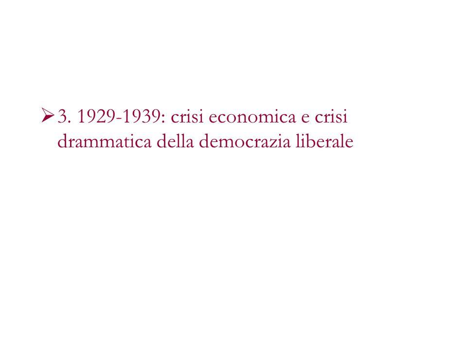 3. 1929-1939: crisi economica e crisi drammatica della democrazia liberale