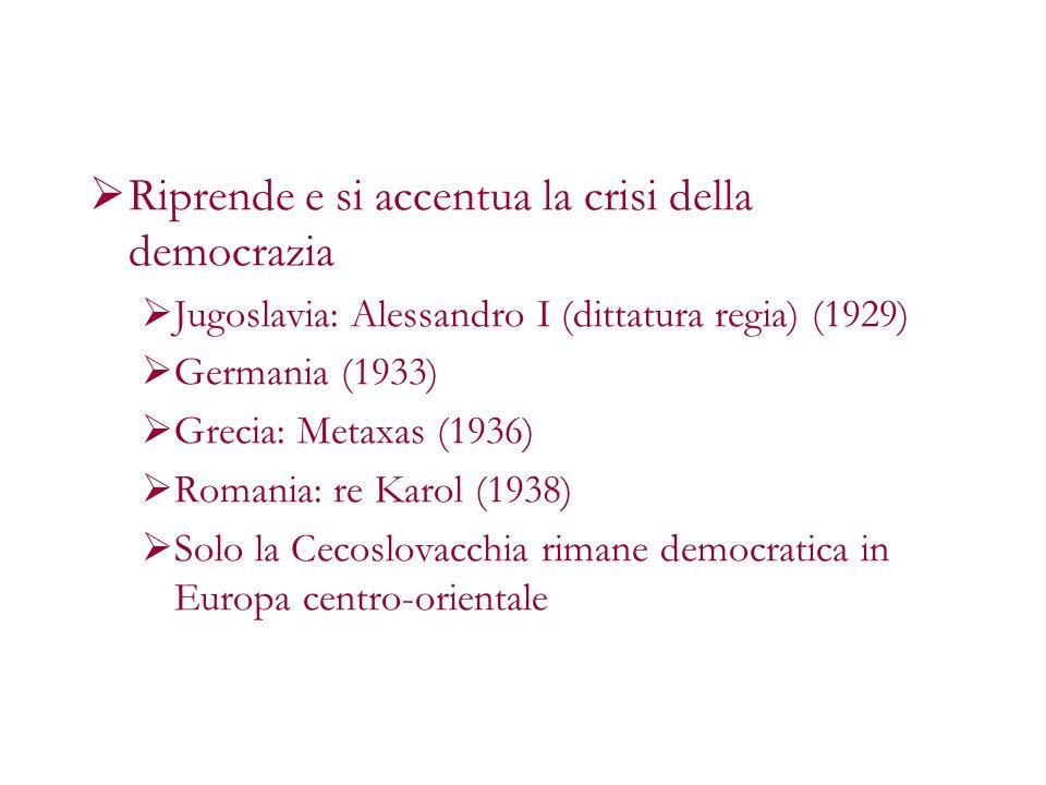 Riprende e si accentua la crisi della democrazia