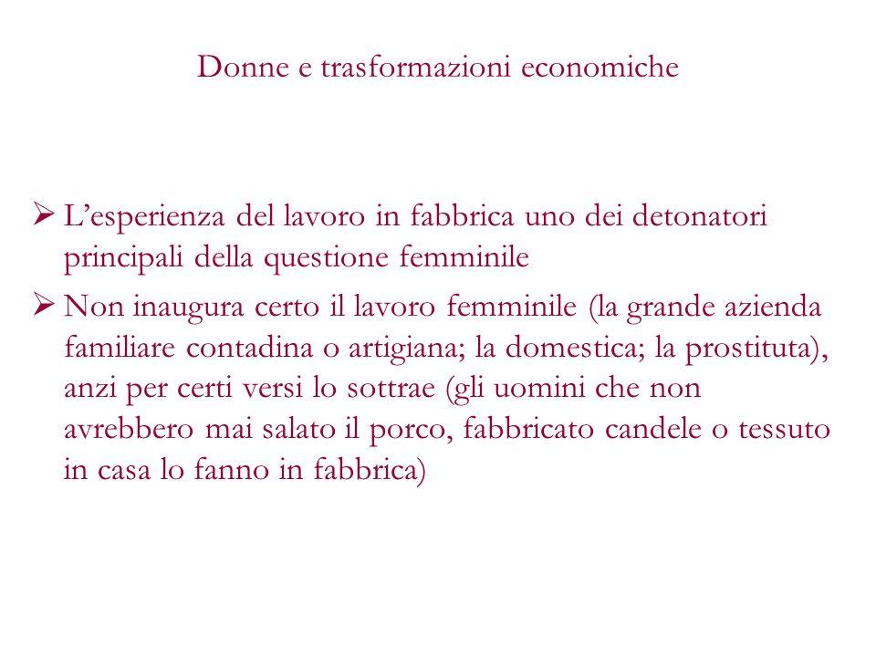Donne e trasformazioni economiche