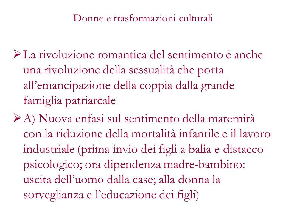 Donne e trasformazioni culturali