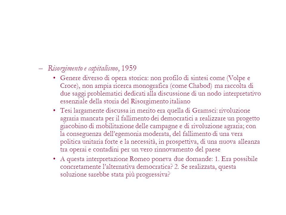 Risorgimento e capitalismo, 1959