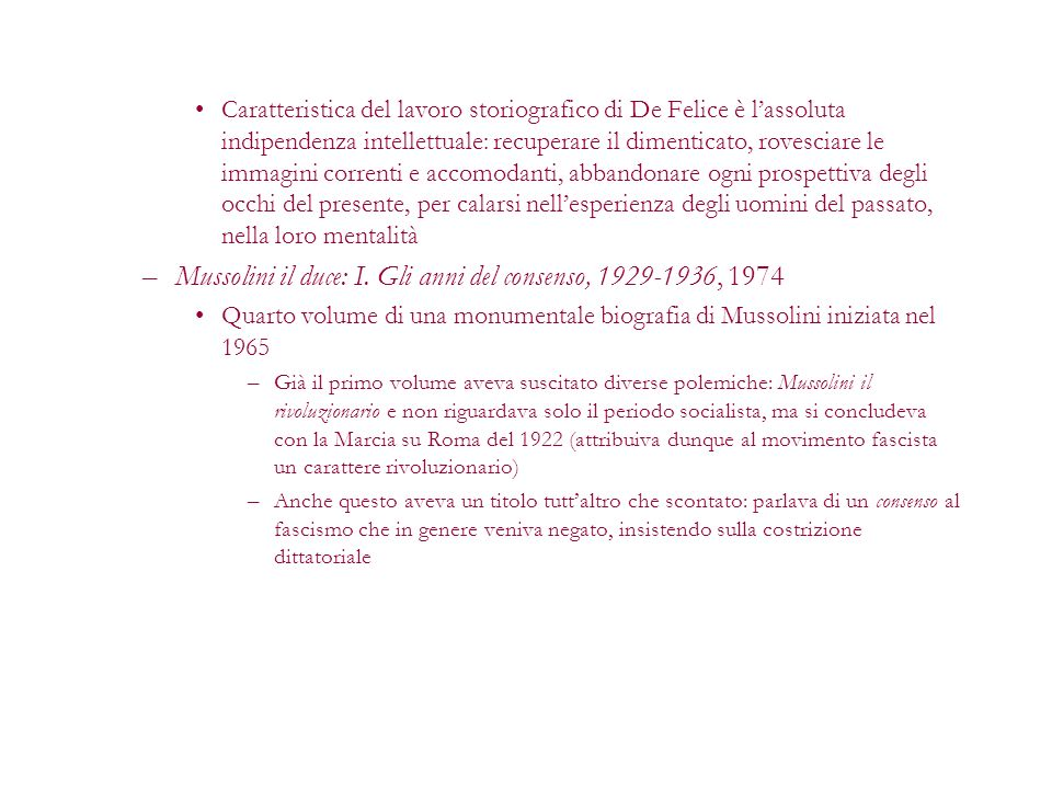 Mussolini il duce: I. Gli anni del consenso, 1929-1936, 1974