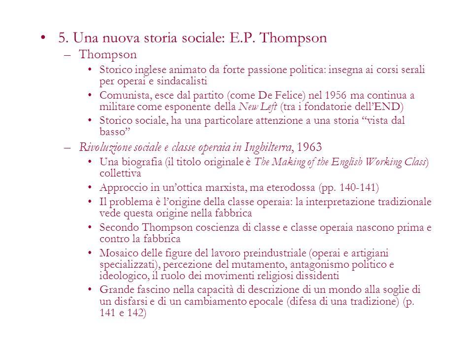 5. Una nuova storia sociale: E.P. Thompson