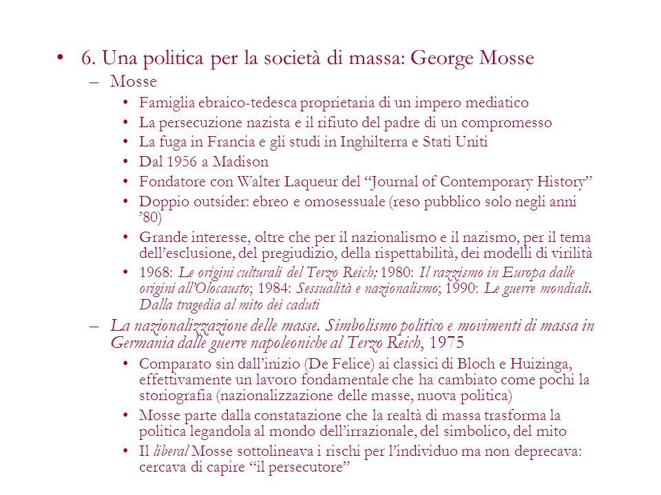 6. Una politica per la società di massa: George Mosse