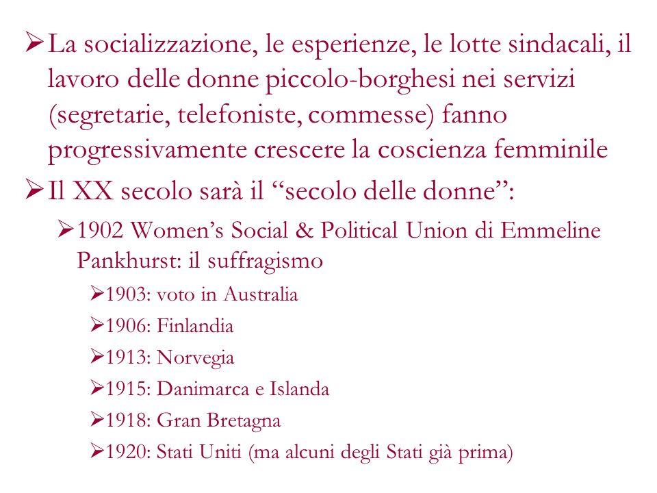 Il XX secolo sarà il secolo delle donne :