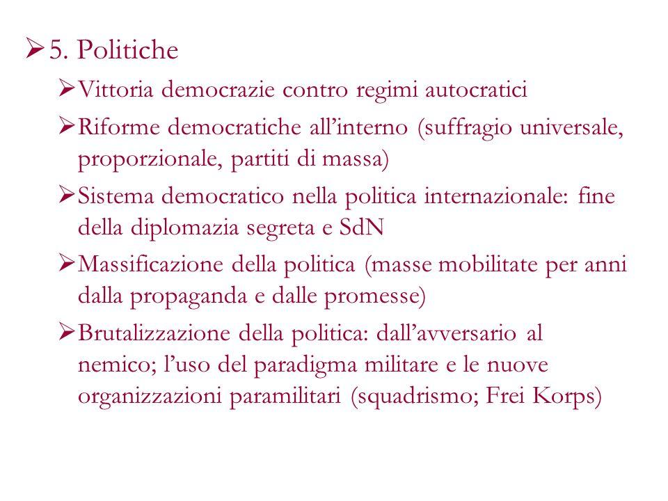 5. Politiche Vittoria democrazie contro regimi autocratici