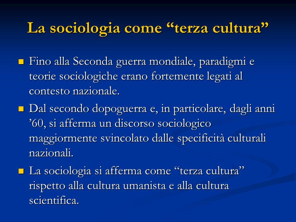 La sociologia come terza cultura