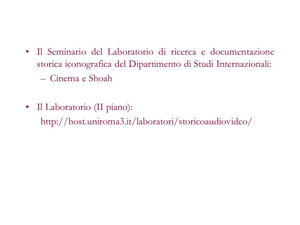 Il Seminario del Laboratorio di ricerca e documentazione storica iconografica del Dipartimento di Studi Internazionali: