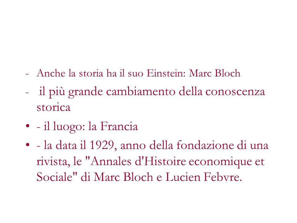 Anche la storia ha il suo Einstein: Marc Bloch