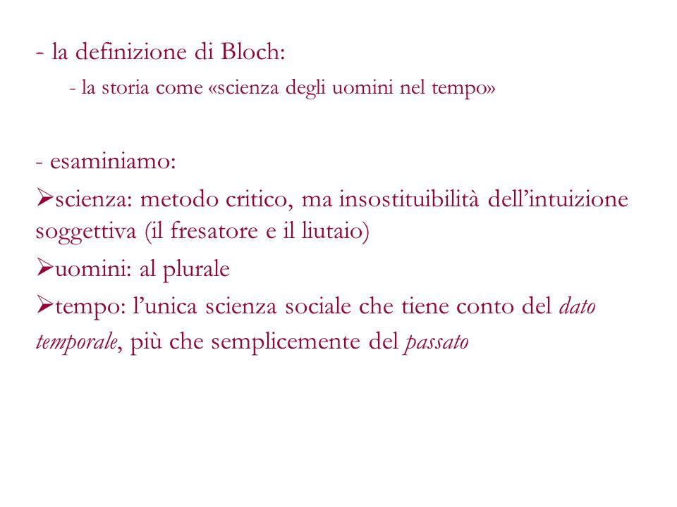 la definizione di Bloch: