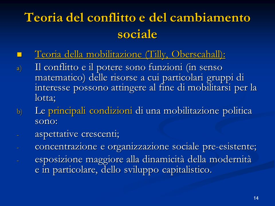 Teoria del conflitto e del cambiamento sociale