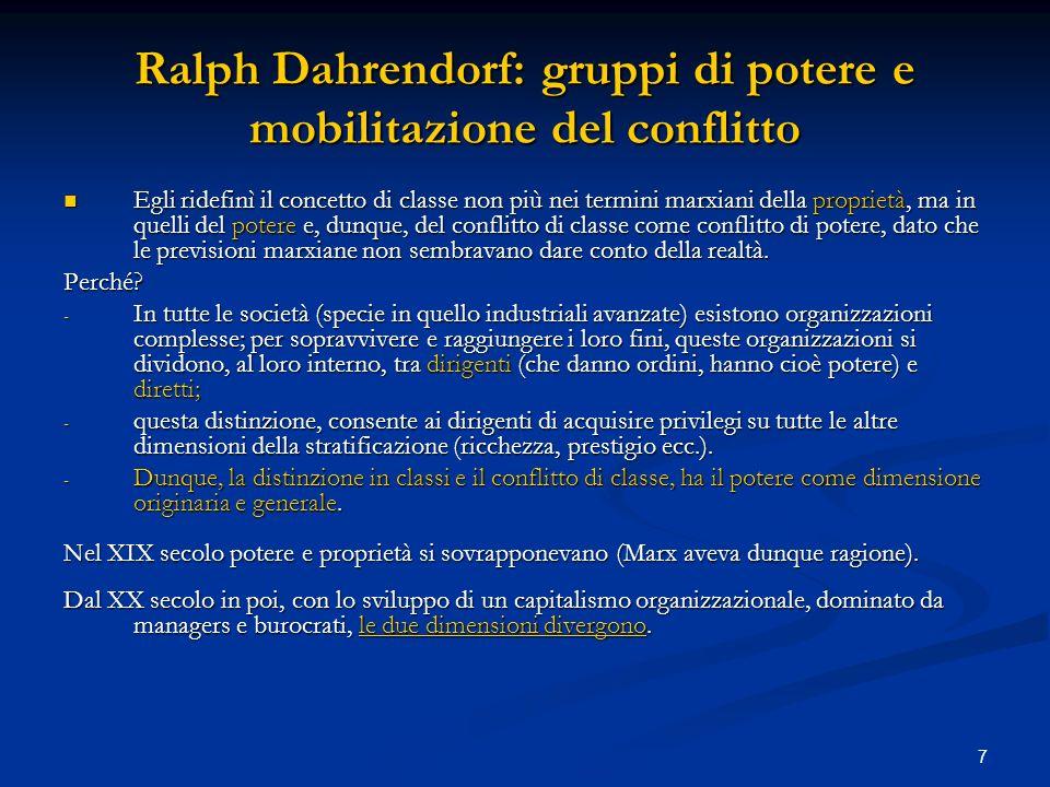 Ralph Dahrendorf: gruppi di potere e mobilitazione del conflitto