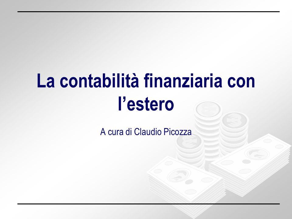 La contabilità finanziaria con l'estero