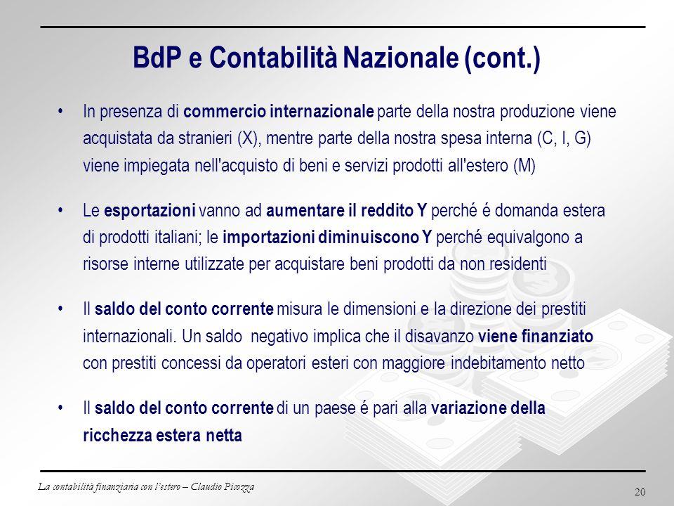 BdP e Contabilità Nazionale (cont.)