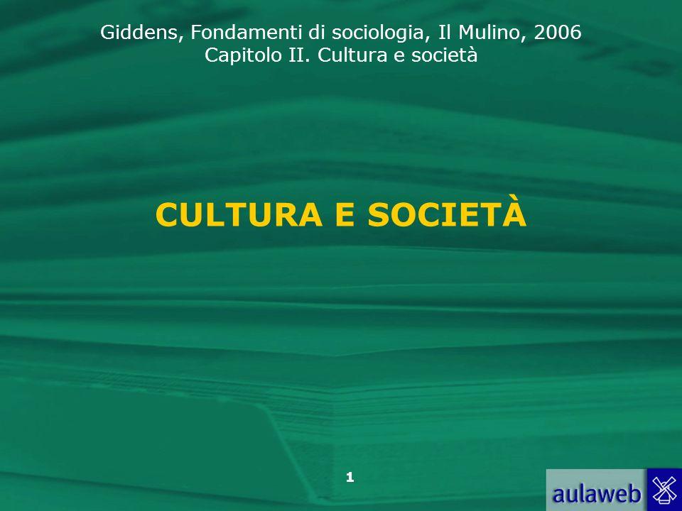 CULTURA E SOCIETÀ