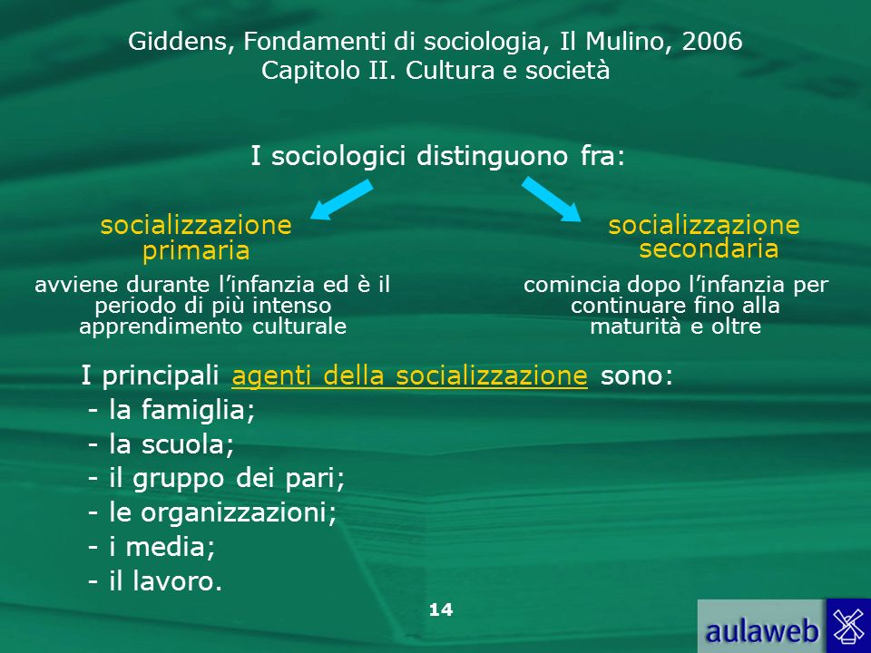 I sociologici distinguono fra: