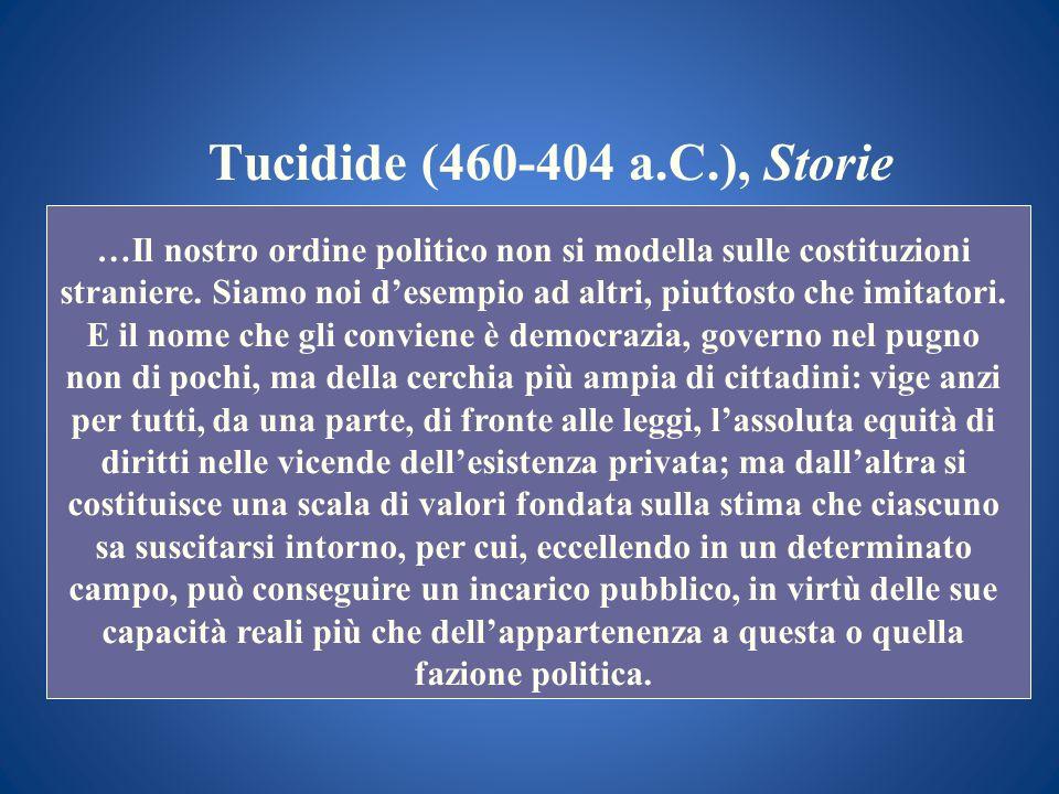 Tucidide (460-404 a.C.), Storie