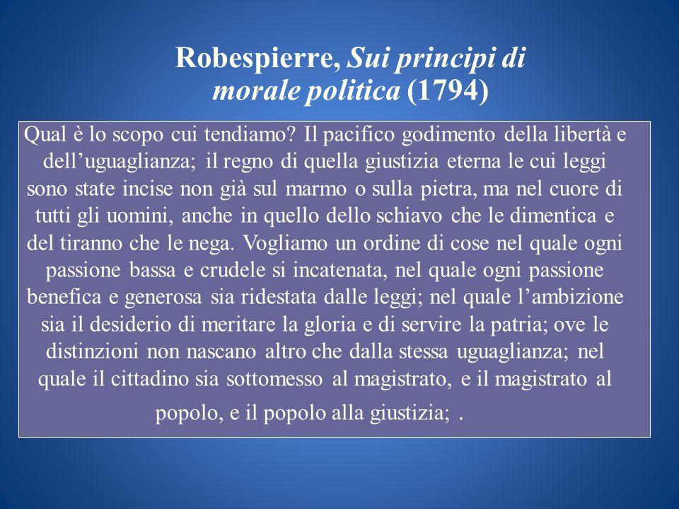 Robespierre, Sui principi di morale politica (1794)