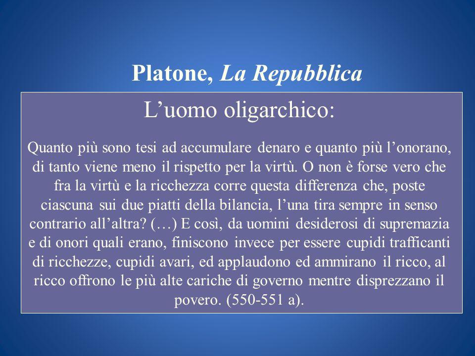Platone, La Repubblica L'uomo oligarchico: