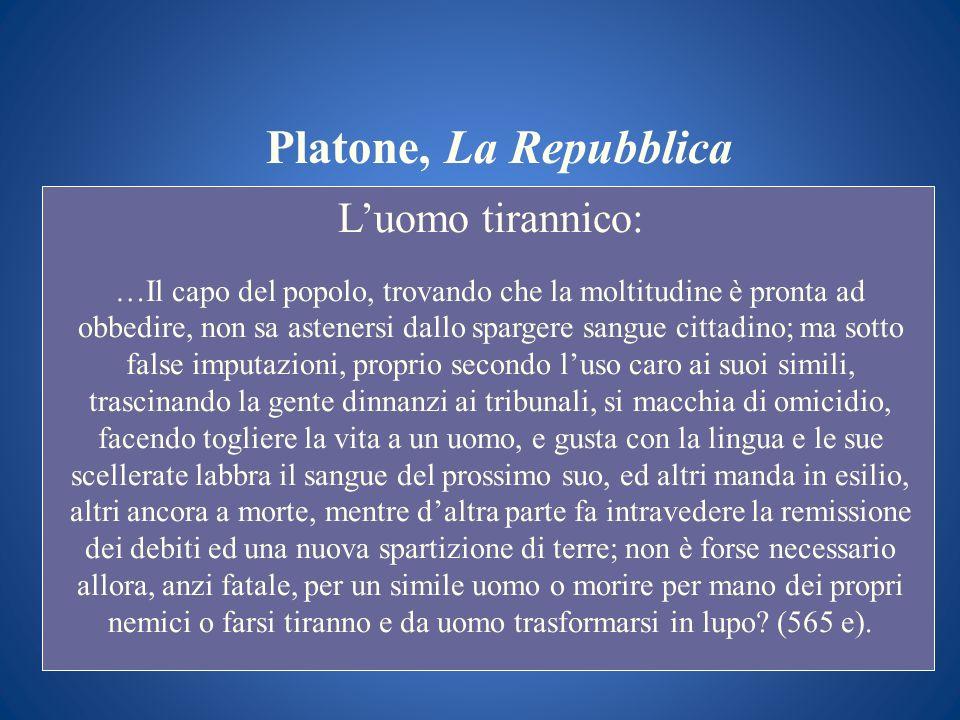 Platone, La Repubblica L'uomo tirannico:
