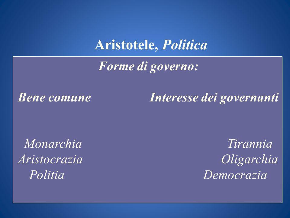 Bene comune Interesse dei governanti