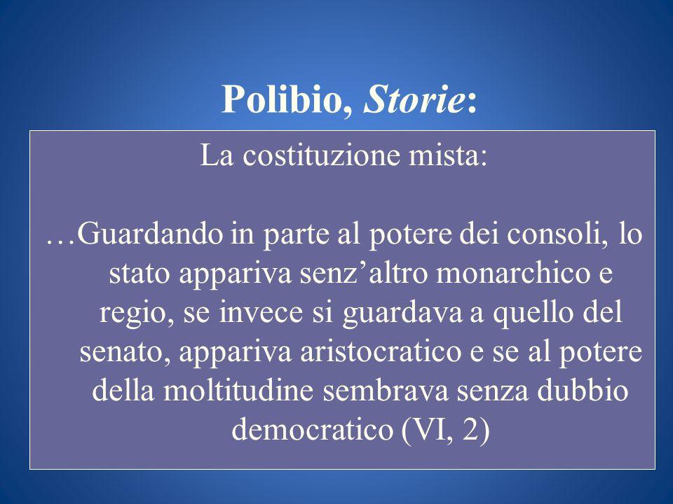 La costituzione mista: