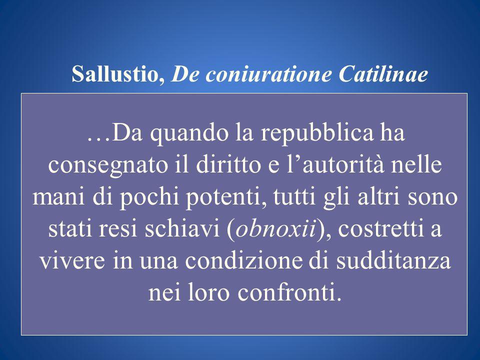 Sallustio, De coniuratione Catilinae