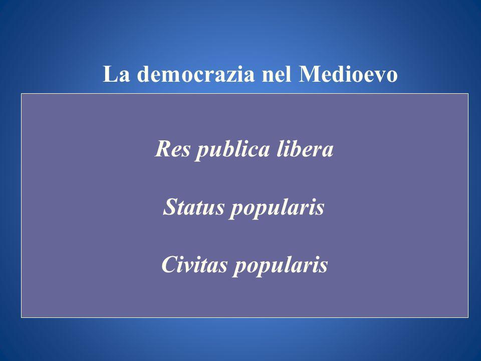 La democrazia nel Medioevo