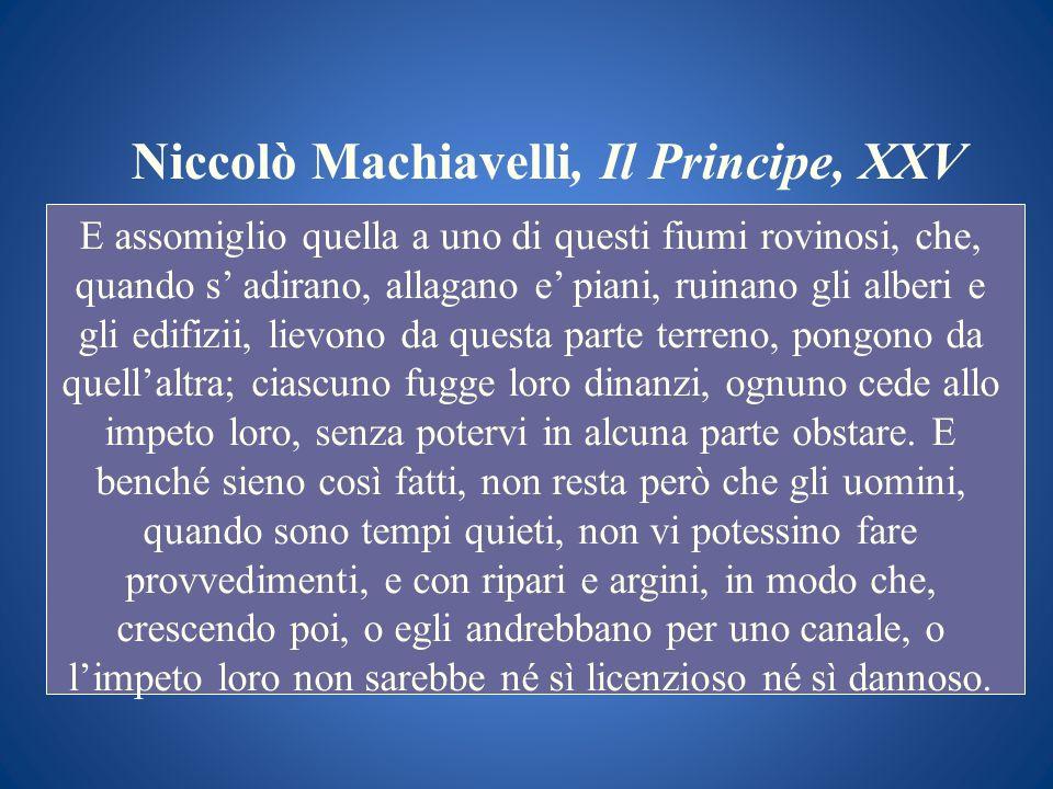Niccolò Machiavelli, Il Principe, XXV
